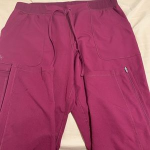 Dickies maroon straight leg scrub bottoms